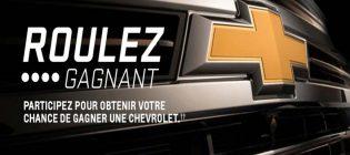 Concours GM Chevrolet Roulez gagnant