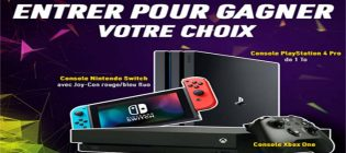 Concours EnPrimeur Choix de Playstation 4, Nintendo Switch ou Xbox One