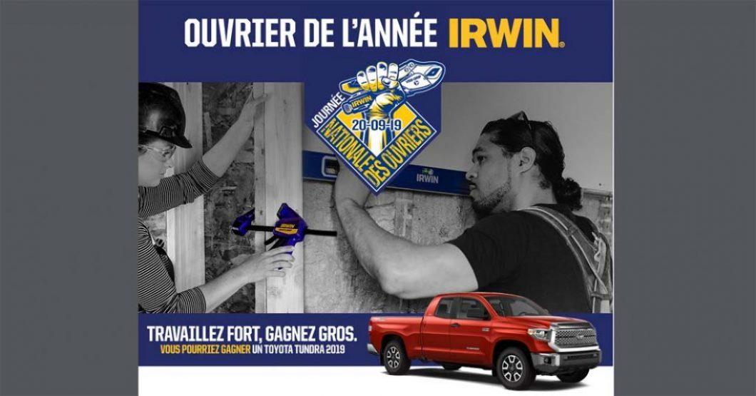 Concours de l'Ouvrier de l'année Irwin Tools
