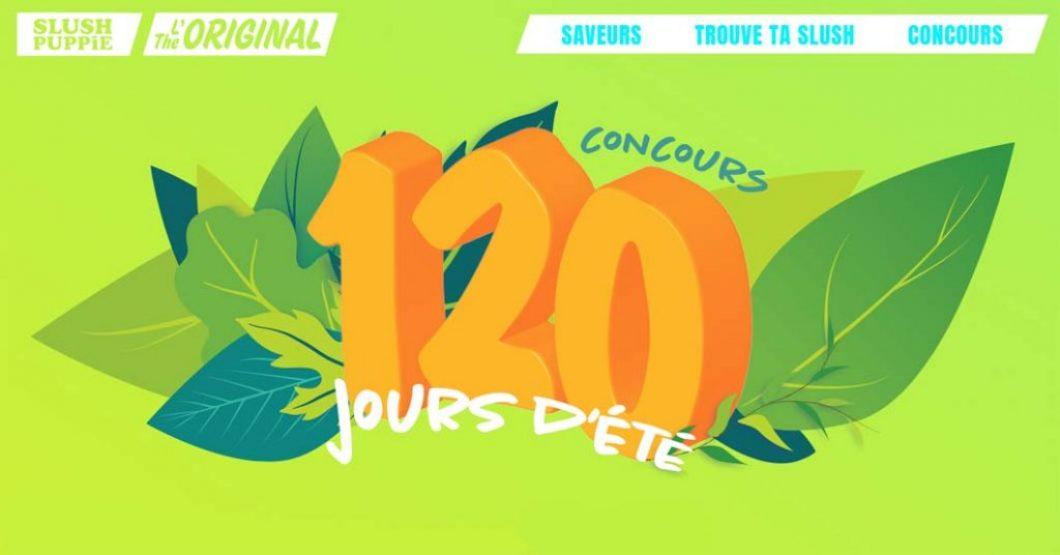 Concours Slush Puppie 120 jours d'été