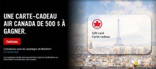 Concours Virgin Mobile Carte-cadeau Air Canada