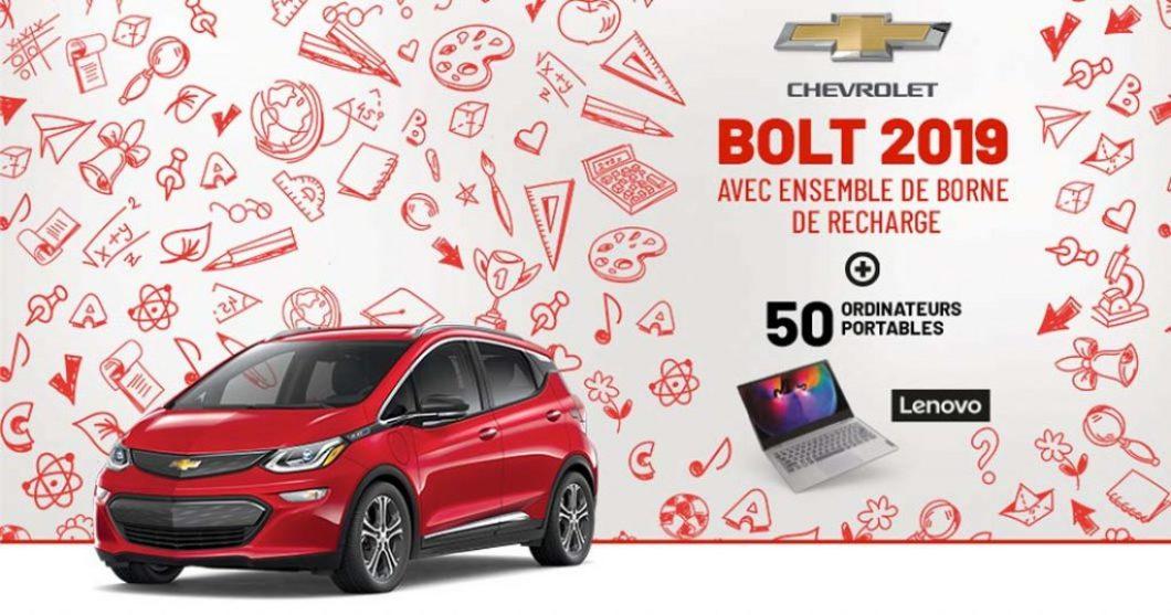 Concours Metro une rentrée branchée Chevrolet Bolt Portable Lenovo