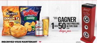 Concours Ruffles Budweiser Ouvrez Versez Savourez