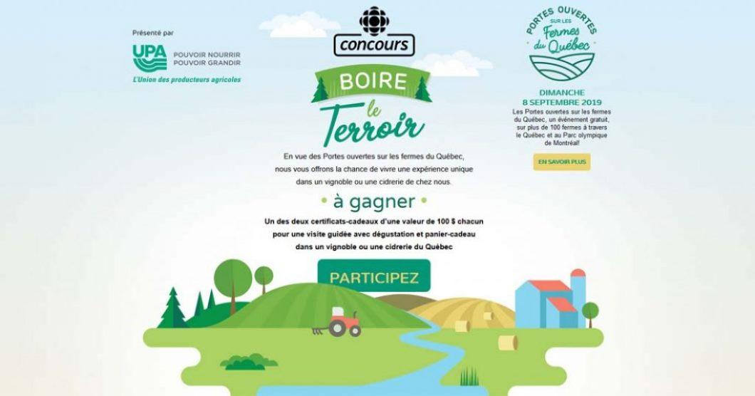 Concours Radio-Canada Boire le terroir