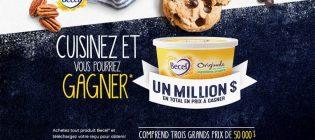 Concours Becel Nouvelles recettes gagnantes