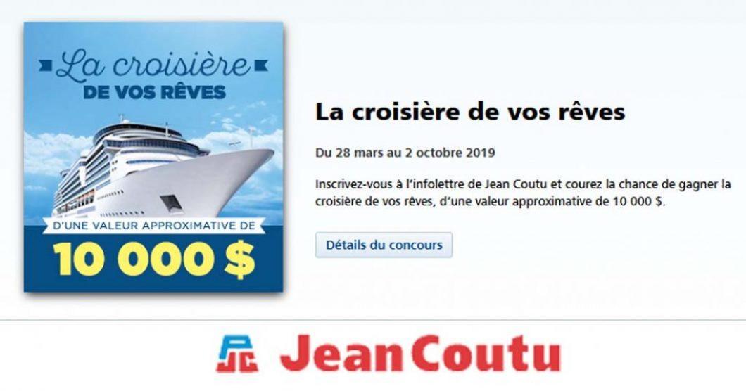 Concours Jean Coutu La croisière de vos rêves