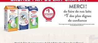 Concours Lait Neilson Gagnez 1 an de lait gratuit