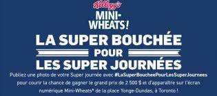 Concours Mini-Wheats La super bouchée pour les super journées
