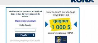 Concours Sondage Opinion Rona
