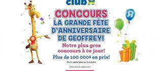 """Concours Toys """"R"""" Us La grande fête d'anniversaire de Geoffrey"""
