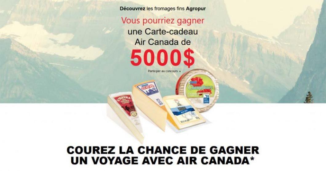 Concours Découvrez les fromages fins Agropur du Canada