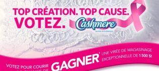 Concours Cashmere Top création. Top cause. Votez.