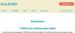 Concours Kaleido 1 000 $ en articles pour bébé