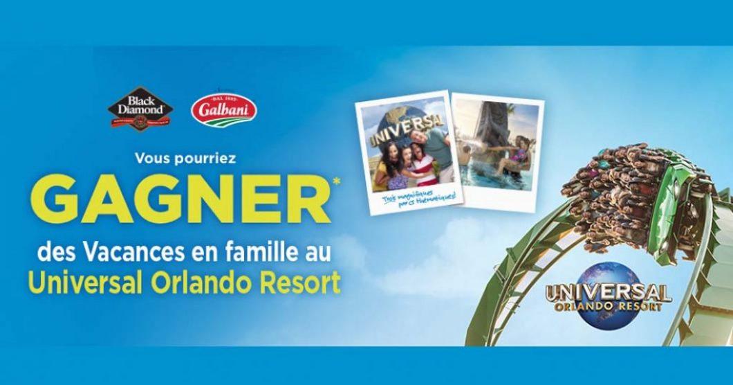 Concours Metro Parmalat (Black Diamond) Vous pourriez gagner des vacances en famille au Universal Orlando Resort