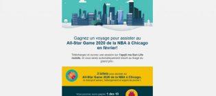 Concours ma Sun Life mobile - All-Star Game de la NBA