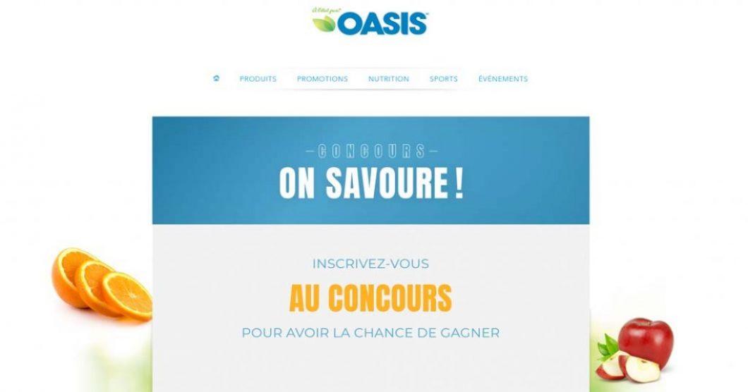 """Concours Oasis On Savoure """"1000$ d'épicerie à gagner pour votre temps des fêtes"""""""