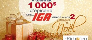Concours Journal Le Richelieu 1 000 $ d'épicerie chez IGA