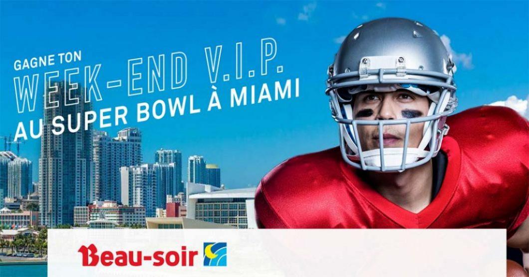Concours Beau-soir Gagne ton week-end VIP au Super Bowl à Miami