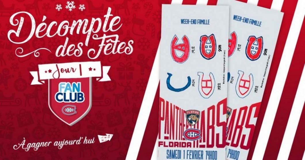 Concours Décompte des fêtes des Canadiens de Montréal
