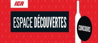 Concours IGA Vins espace découvertes - Gagnez 1 an d'épicerie