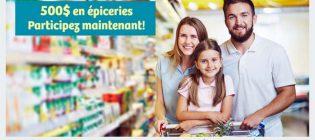 Concours webSaver Économisez sur votre épicerie pour gagner