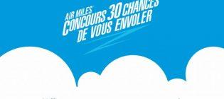 Concours AIR MILES 30 chances de vous envoler