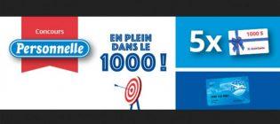 Concours Jean Coutu Personnelle - En plein dans le 1000 (mille)