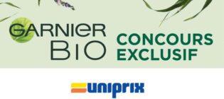 Concours Uniprix Lancement Garnier Bio