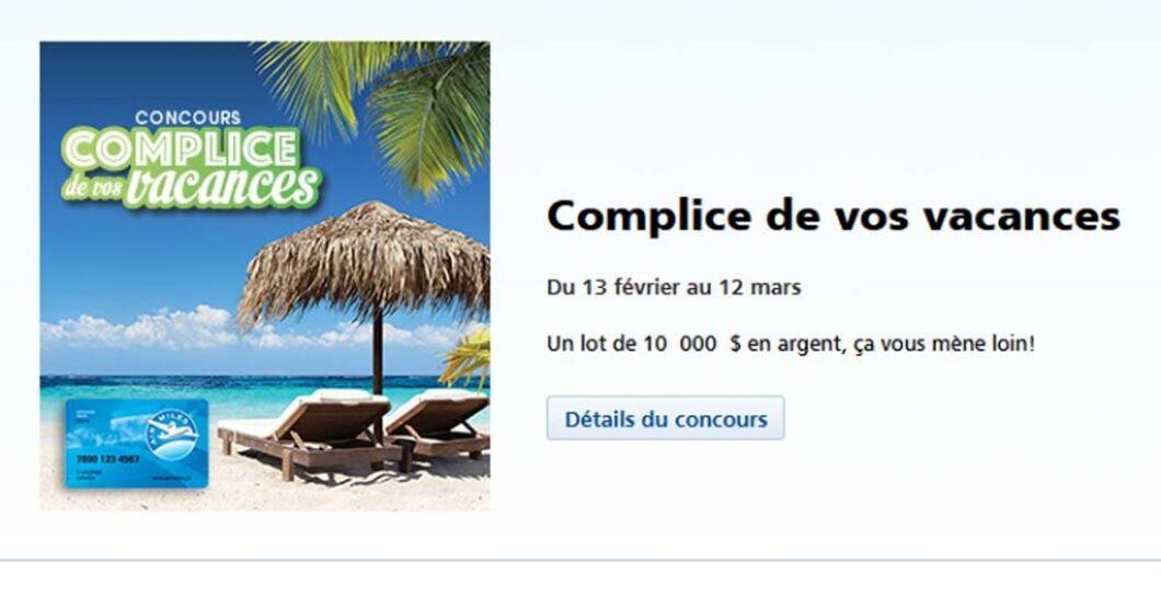 Concours Jean Coutu Complice de vos vacances
