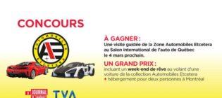 Concours TVA Journal de Québec Automobiles Etcetera