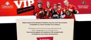 Concours Radio-Canada Expérience de hockey VIP pour la famille