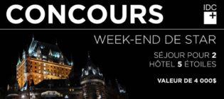 Concours Noovo Week-end de star IDC DERMO