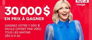 Concours Rouge FM Le 1000$ facile