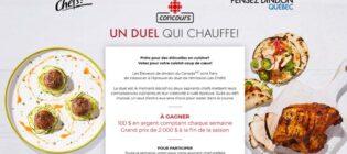 Concours Radio-Canada Les Chefs Un duel qui chauffe