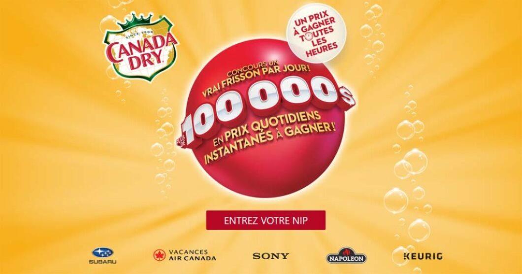 Concours Un vrai frisson par jour de Canada Dry