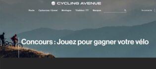 Concours Cycling Avenue Jouez pour gagner votre vélo