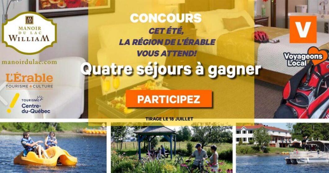 Concours Manoir du lac William Cet été, la région de l'Érable vous attend