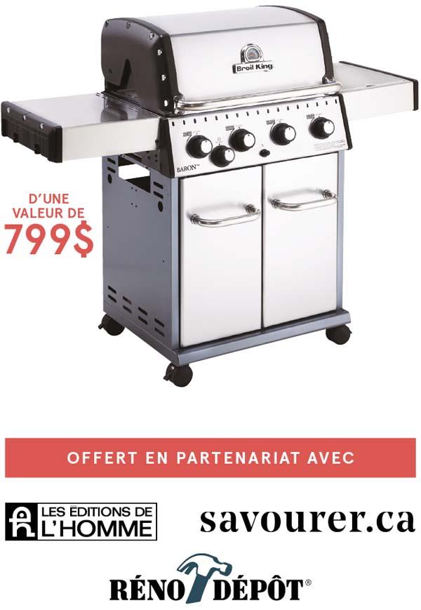 Prix du concours Gagnez votre barbecue avec Geneviève O'Gleman
