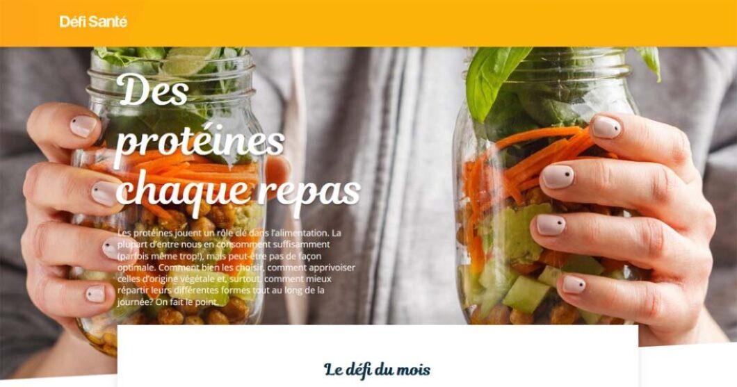 Le concours Défi Santé Des protéines chaque repas