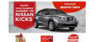 Concours Metro & Campbell's Gagnez un Nissan Kicks