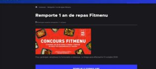 Concours Noovo Remporte 1 an de repas Fitmenu