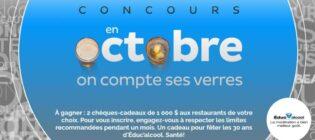 Concours SB Privilèges En octobre on compte ses verres avec Éduc'alcool