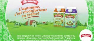 Concours SB Privilèges L'automne, c'est réconfortant en crème