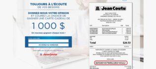 Concours Sondage opinions Jean Coutu
