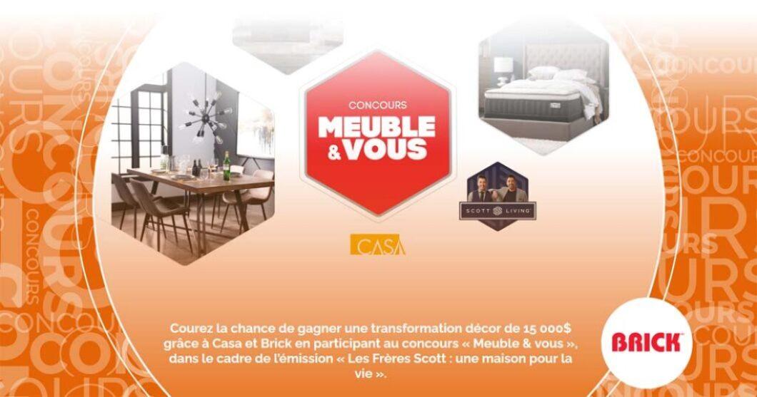 Concours SB Privilège Meuble & vous avec Casa et Brick
