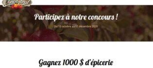Concours Vinaigre Ancestral Gagnez 1 000 $ d'épicerie