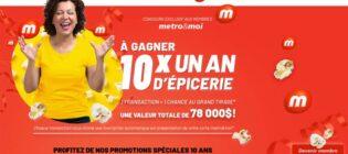 Concours metro&moi fête son 10e anniversaire