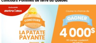 Concours Metro La patate gagnante