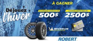 Concours Robert Bernard Gagnez vos pneus avec Michelin