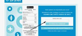 Concours Sondage opinion Brunet